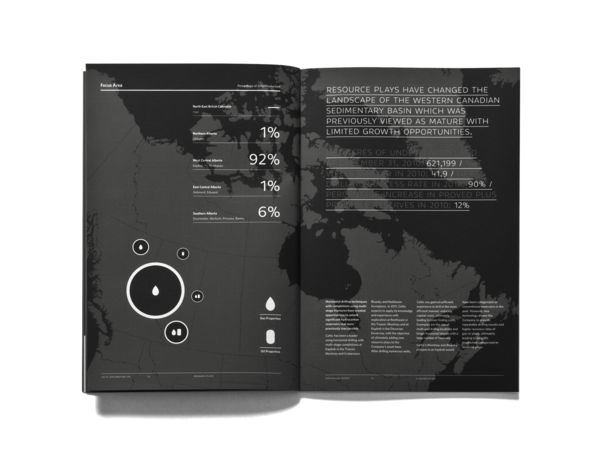 annual report in black and white by Foundry Communications