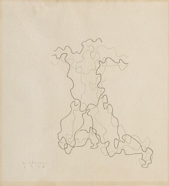 Władysław Strzemiński - Rzeźba grecka III, Rysunek na Konkurs Olimpijski, 1948 r.