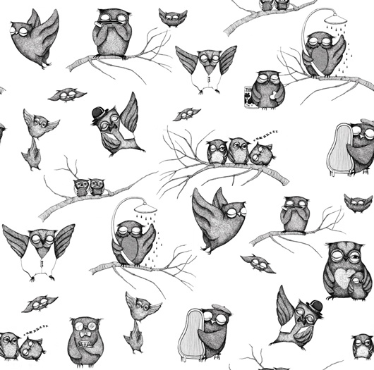 Owls wallpaper for an accent wall Owl wallpaper, Owl