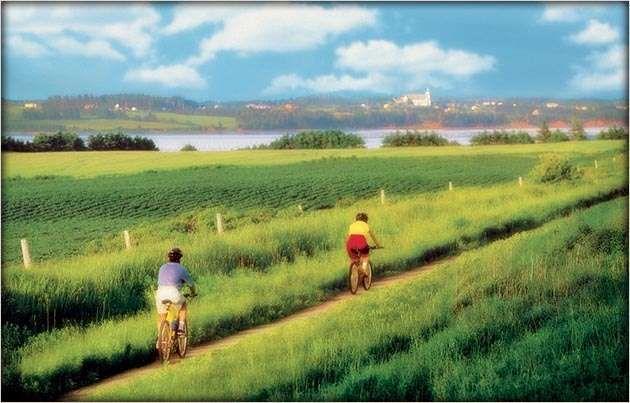 #Cycling on #PEI via http://www.tourismpei.com/pei-cycling-itineraries#