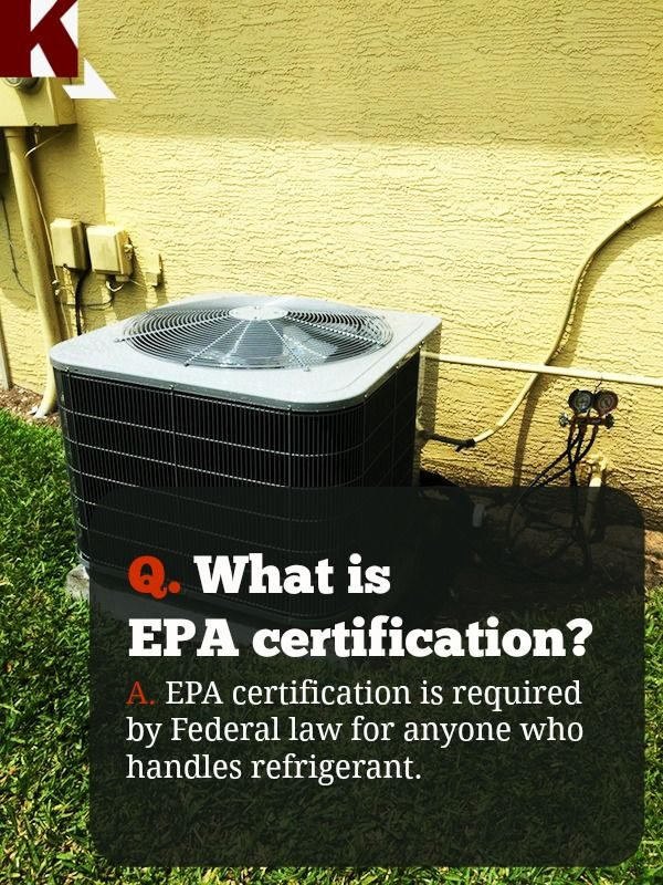 Hvac new: Epa Certification Hvac