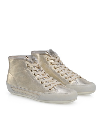 #HOGAN Women's Spring - Summer 2013 #collection: gold leather High-Top sneakers H207.