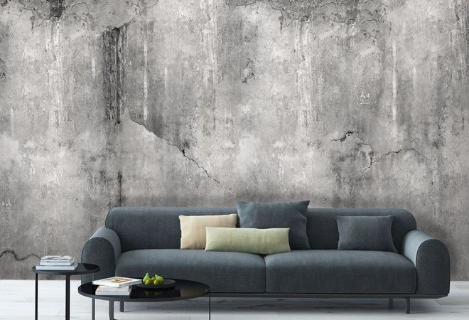 Wand inspiratie | Behang inspiratie | Verweerd beton behang | Behangfabriek | WEATHERED CONCRETE