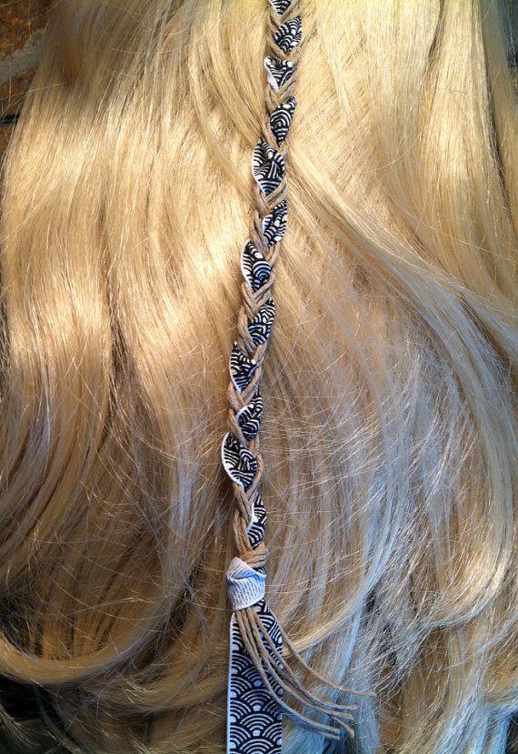 Hemp & Ribbon Hair Wrap | The Gypsy Bead | Hair, Ribbon ...