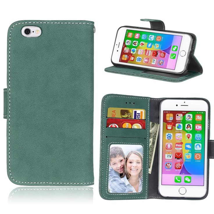 Luxury Flip Wallet Cover Case for iPhone 6 6S Phone Case PU Leather Case with Card Holder Silicone Back Cover for iPhone6 Bag