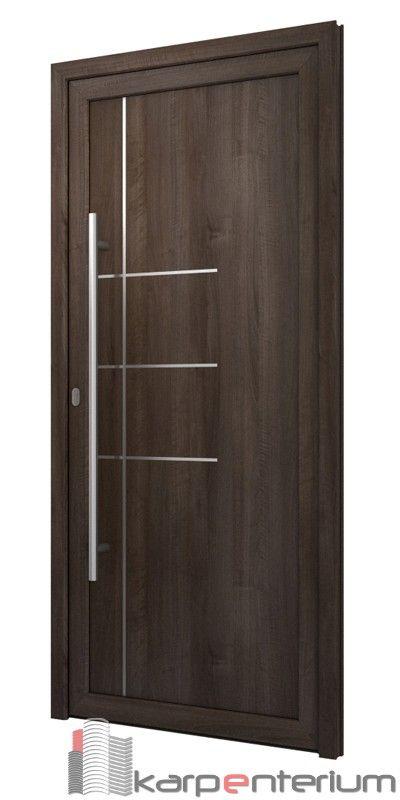 Puerta moderna b18 1 jl pinterest puertas modernas for Puertas de entrada de madera modernas