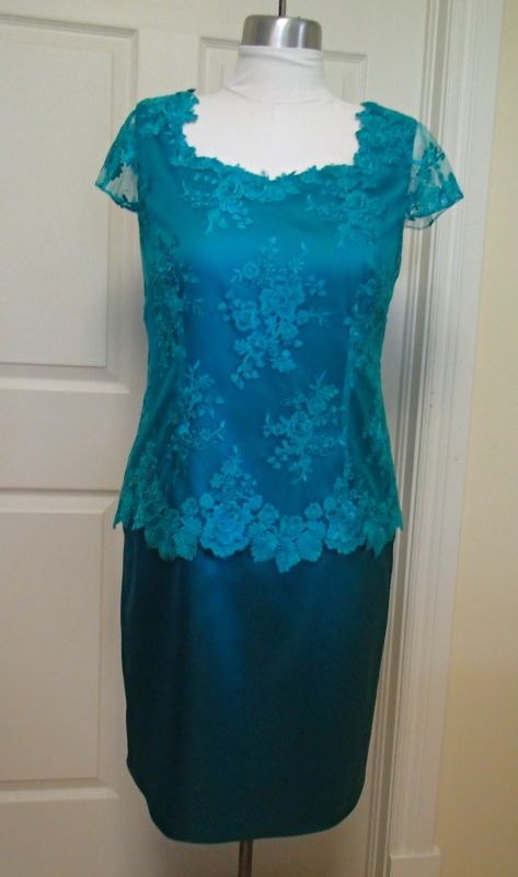 last order for the summer completed. :)  Satin dress with lace overlay