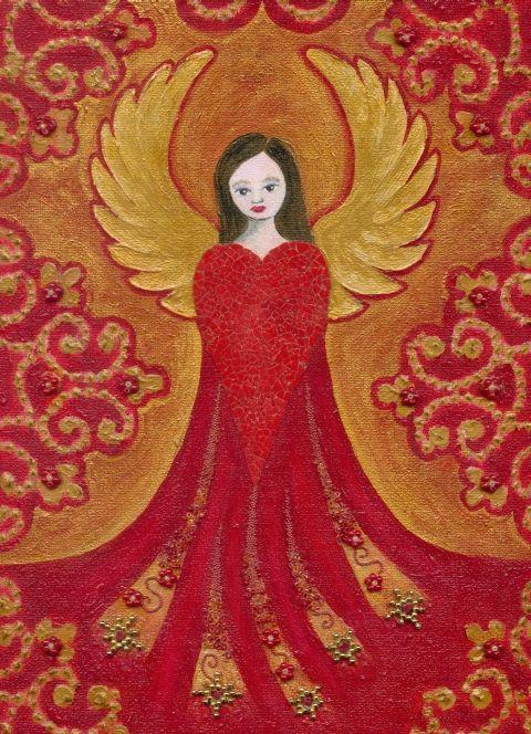 Christian Art | Angels: Red_angel