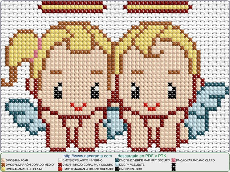 angelitos EN PUNTO DE CRUZ, Cross stitch patterns
