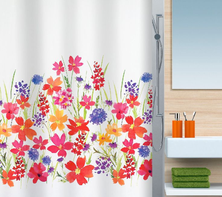 beautiful spirella campo flowery colourful shower curtain very pretty bathroom - Beautiful Shower Curtain