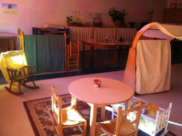 """Early Childhood classrooms in Waldorf schools look different. Some parents are initially surprised by the lack of primary colors and maps and charts that normally festoon the walls of """"traditional"""" preschool rooms. Won't the kids find this … boring? According to recent research on the topic of classroom design, they won't consider it at all, …"""