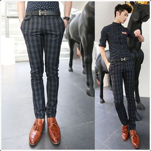 You can even pair up plaid pants with polka dot shirts like these!