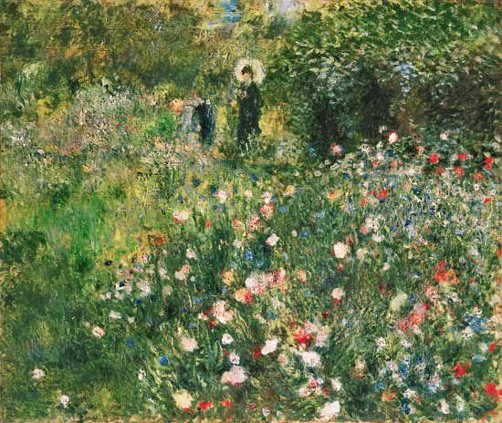 Image: Pierre-Auguste Renoir - Woman with Parasol in a Garden
