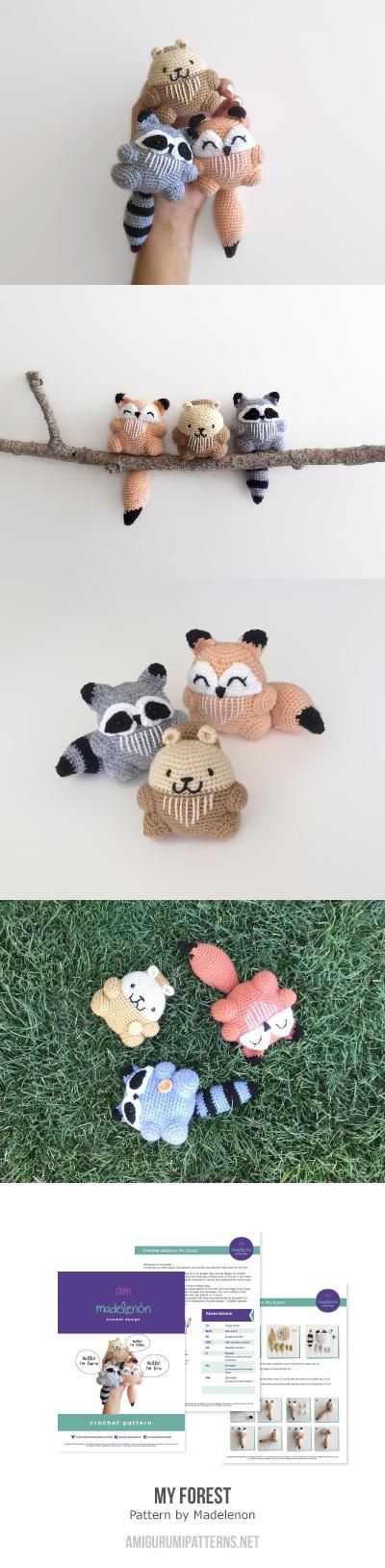 My forest amigurumi pattern by Madelenon