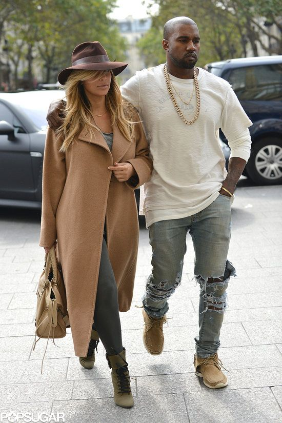 Kim Kardashian and Kanye West Paris 2013