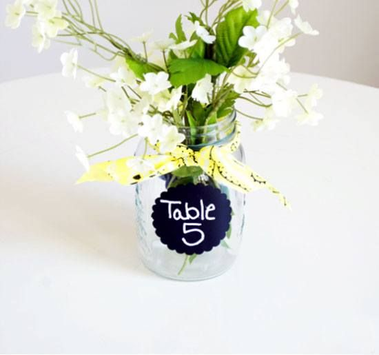 Wedding Table Number Alternative | Click Pic for 26 DIY Wedding Centerpieces on a Budget | DIY Wedding Decorations for Outside