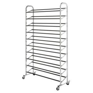 whitmor deluxe rack collection in x 595 in 50pair chrome shoe tower