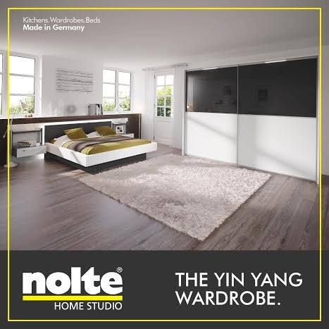 Popular In this Attraction wardrobe the fronts in polar white and graphite glass bring about perfect