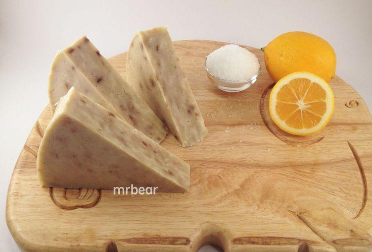 Cool Gift- Australia Organic Lemon(Pulp&Peel) Sea Salt Handmade Quality Soap