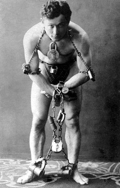 Harry Houdini. 1899, 25 years old.: