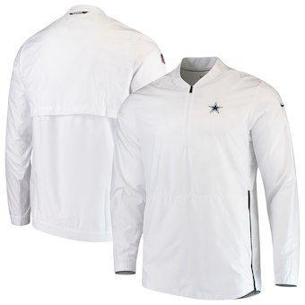 613da2cfd7bf MEN S WEARING APPAREL Dallas Cowboys Nike Sideline Lockdown Quarter-Zip  Jacket – White