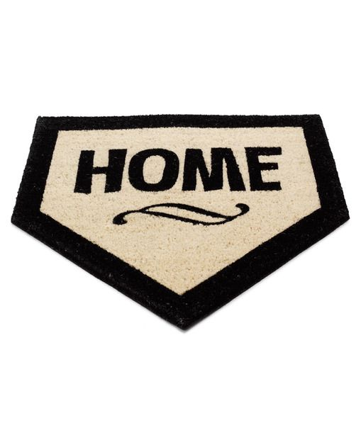 Home base.:  Welcome Mats, Gifts Ideas, Doors Mats, Front Doors, Baseball Season, House, Homes, Plates Doormats, Plates Doors