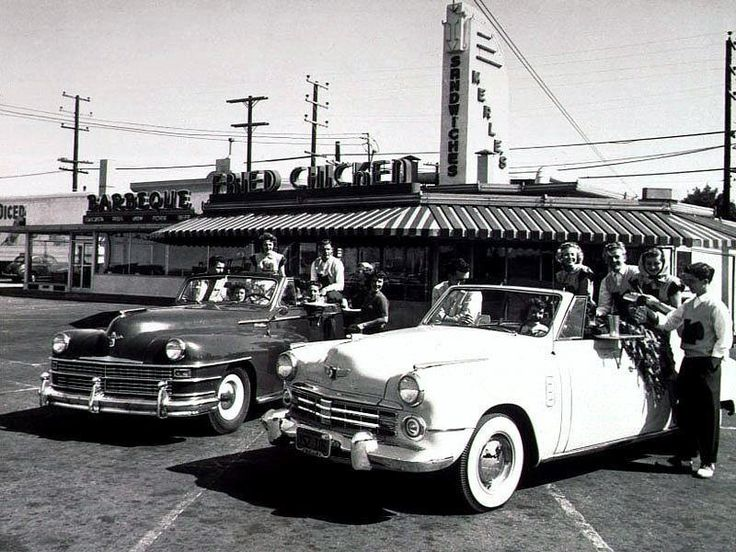 1950's drivein restaurant. (With images) Car, Old cars