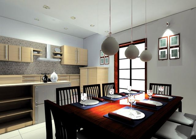 simple dinning room & kitchen idea