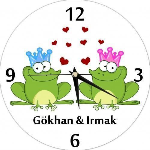 Kurbağadan prens ve prenses olmaz demeyin!!! :) http://hediye.com.tr/main/0/12329/kisiye-ozel-saat-kurbaga-duvar.html