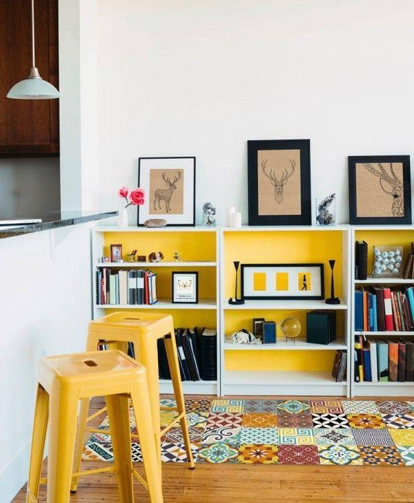 Tapis en vinyle imitation carreaux de ciment de la marque Beija Flor  http://www.homelisty.com/tapis-carreaux-de-ciment/