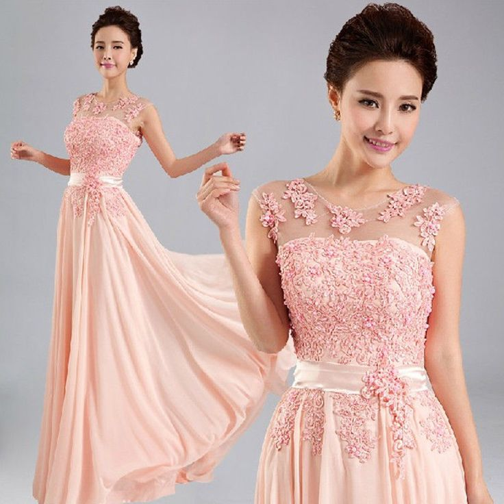 New Long Formal Evening Prom Party Dress Wedding Bridesmaid Dresses Ball Gown #Handmade #BallGown #Formal