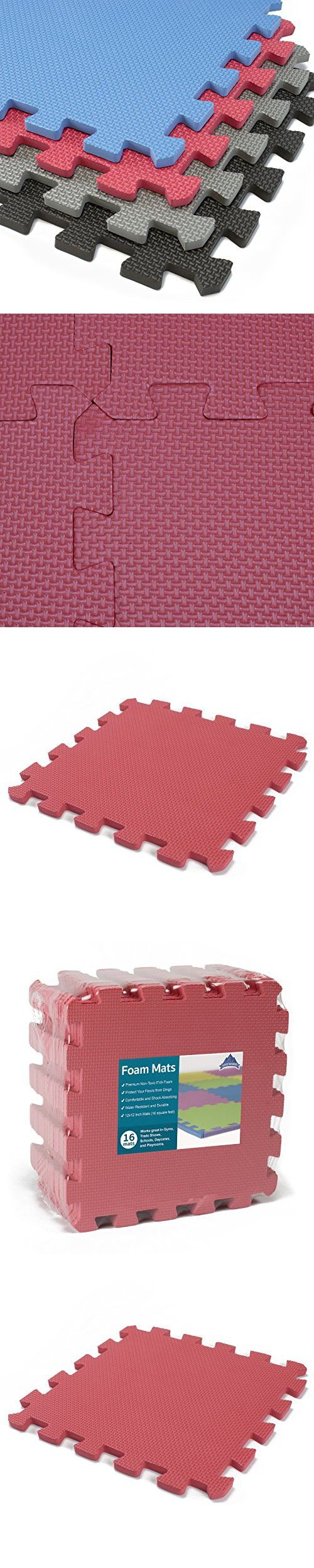 Rubber floor mats for garage gym - Interlocking Foam Mats Thick Eva Exercise Flooring Soft Non Toxic Kids Play Tiles Anti Fatiguegarage Gymbaby