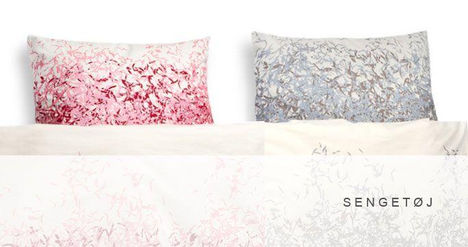 Sengetøj i 7 forskellige designs. Mange farver. http://shop.kurage.dk/sovevaerelse/sengetoj.html