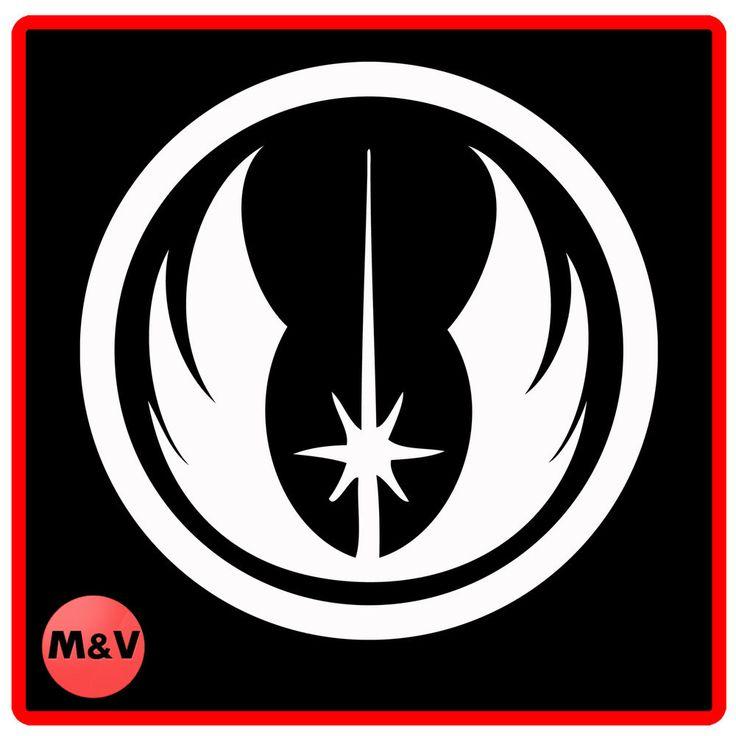 Star wars jedi order logo stickers x2 laptop xbox ps4 yoda darth