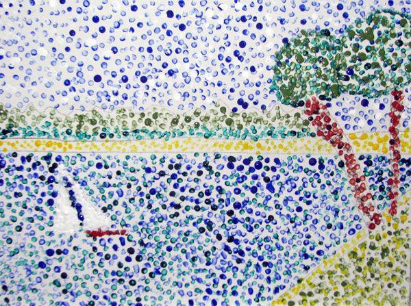 Q-Tip® Pointillism - Art History -  KinderArt