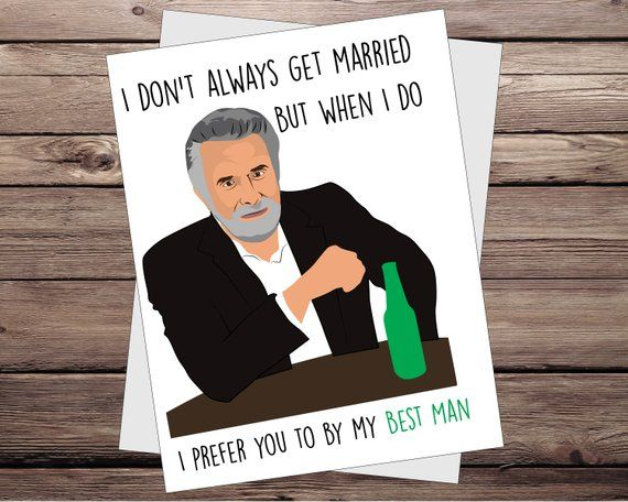 Funny Groomsman Card. wedding Cards. How I met your mother. Barney Stinson. Best…