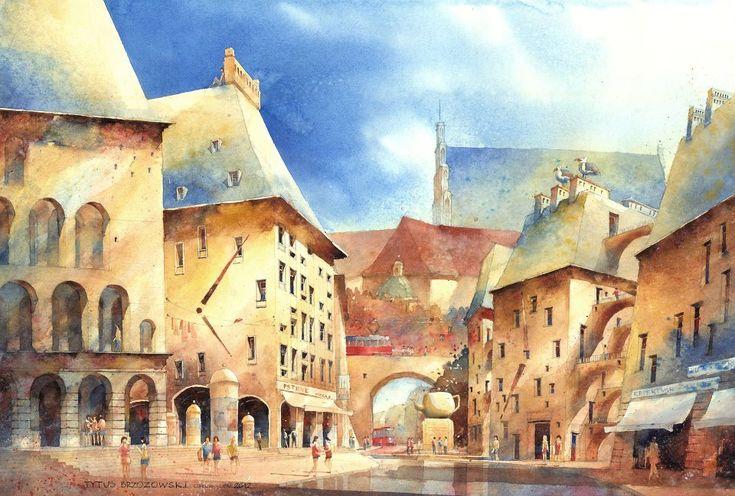 Watercolor-by-Tytus-Brzozowski-4.jpg (960×648)