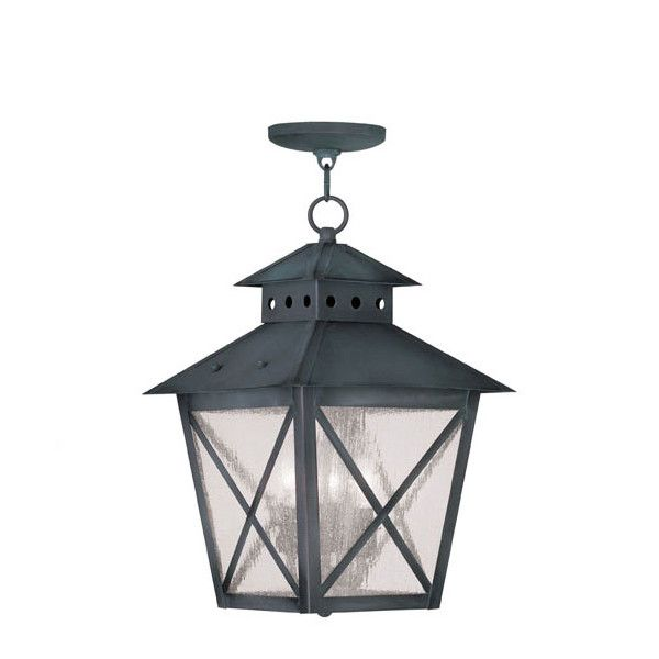 Livex lighting montgomery outdoor chain hang in charcoal