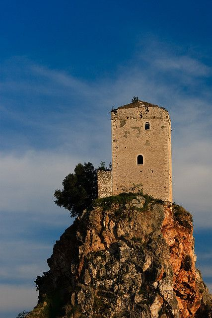 scenic lookout at Monticchio, province of Potenza, region of Basilicata, Italy,