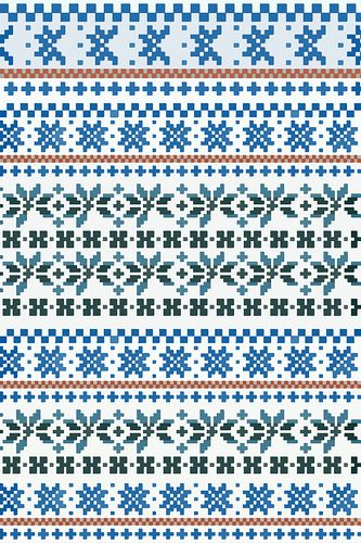 fair isle pattern 1 via Flikr and described as a computerised version of a fair isle knitted jumper