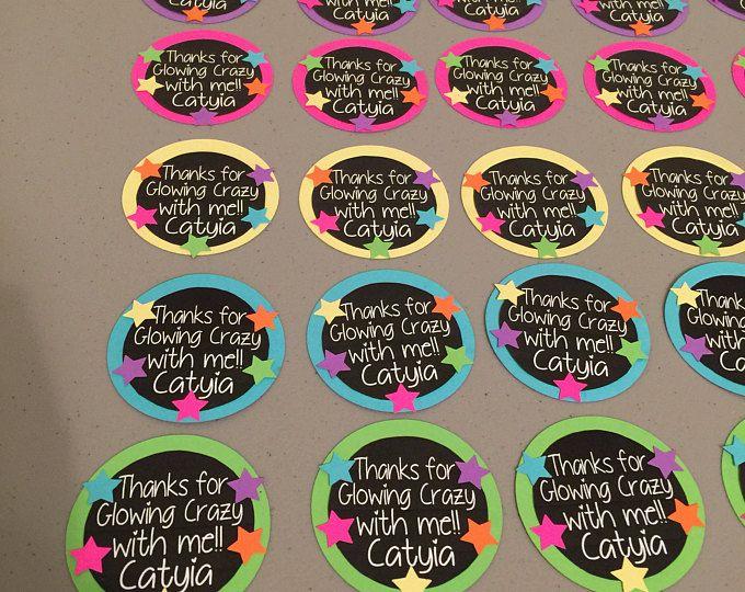 1 Dutzend Neon danke Tags, Glow Geburtstag, Glow Gunst Tags, Glow Dekor, Neon Geburtstag, Neon Party, Geburtstag Dekoration, Glühen in der dunklen Partei