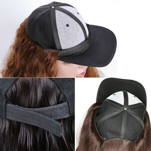 Baseball Cap Hat Wig Wavy Curly Long Synthetic Hair Hat Hairpiece Wigs For Women Ad Affiliate Wig Wavy Curly Diy Wig Hat Hairstyles Hair Pieces