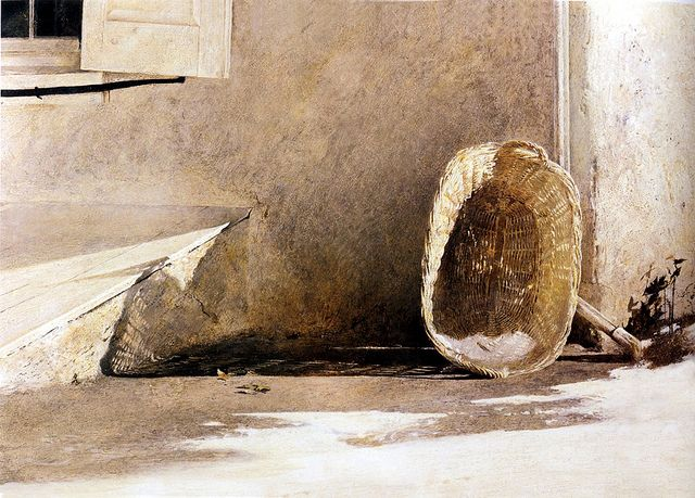 Andrew Wyeth 'Monday Morning' 1955 Tempera on Panel