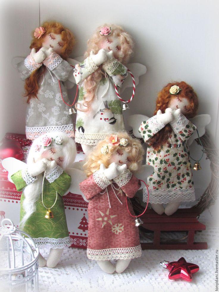 Купить Новогодние Ангелочки - малютки - ангелочек, ангел, ангел-хранитель, ангелы, ангелок, ангел снов