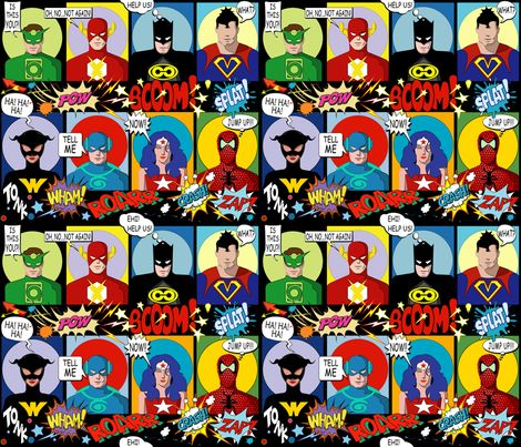 Super Fabric HEROES02 fabric by chicca_besso on Spoonflower - custom fabric