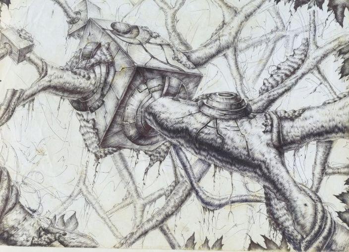 나무,자연,메카닉,tree,mechanic,illust,nature