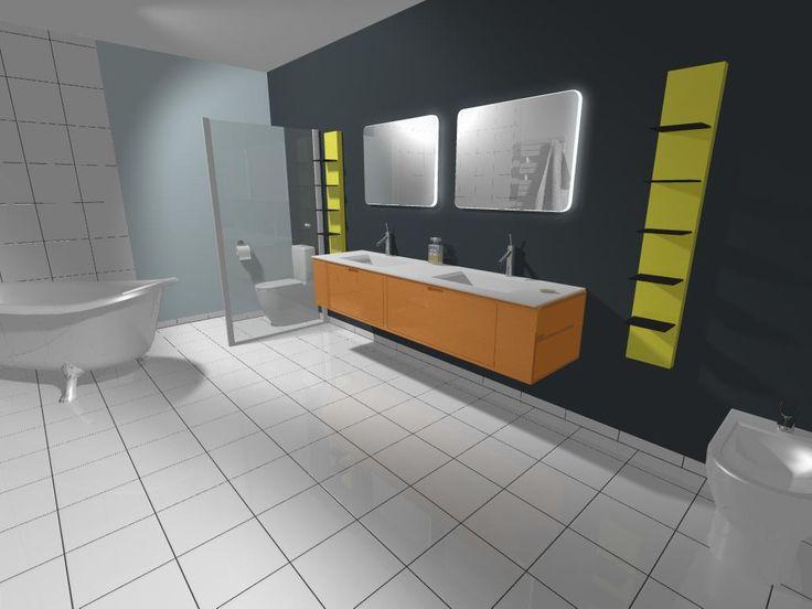 Dessin De Salle De Bain Par Logiciel Rendu Photo Bathroom Design By Software Photo Rendering