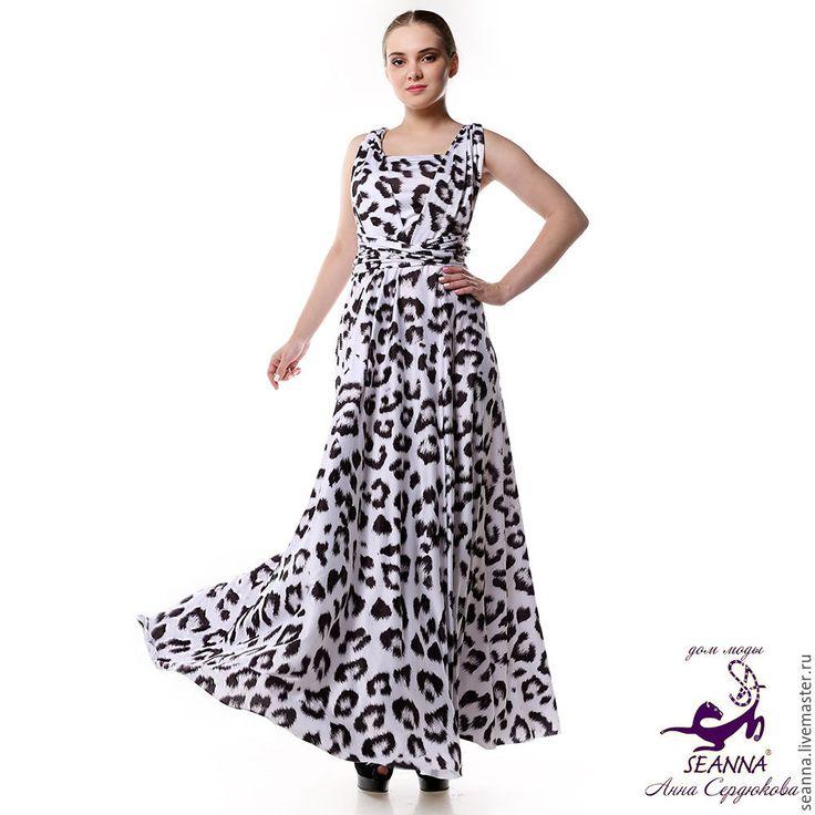 Купить Платье-трансформер стрейч безразмерное Черный Бриллиант в 30 вариантах - платье, платье купить