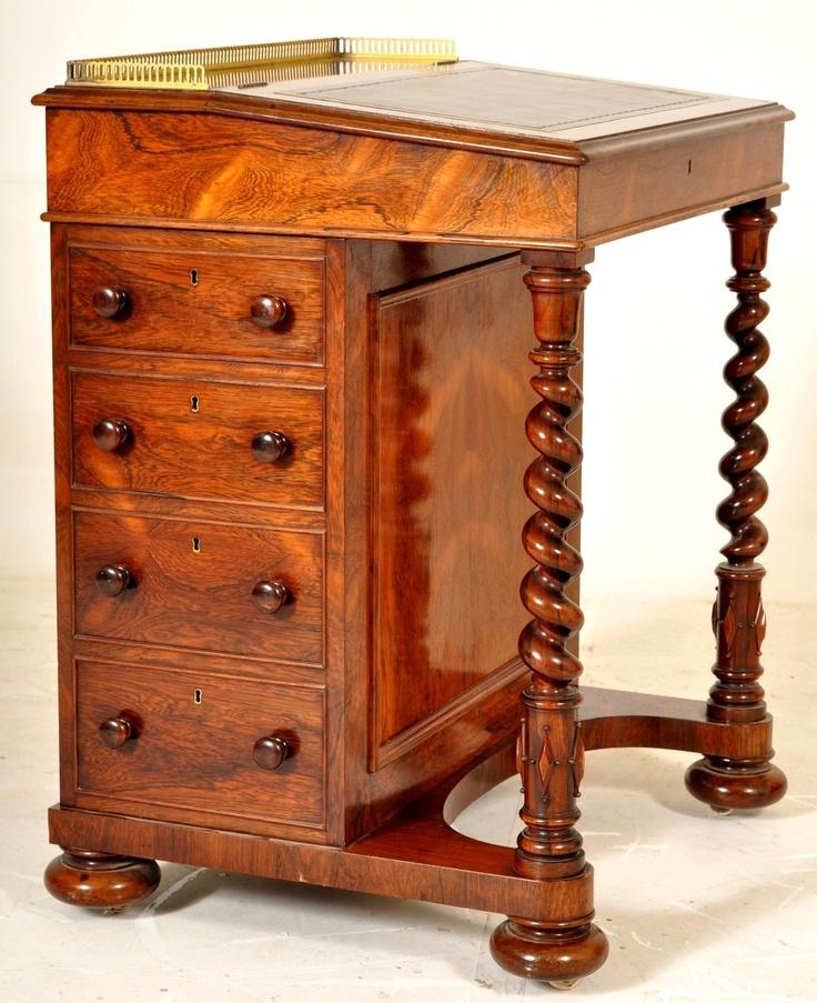 Antique Rosewood Victorian Davenport secretary desk by Gillows #bocadolobo…
