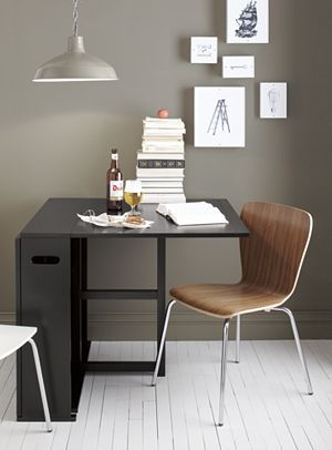Span Espresso Gateleg Dining Table...I really want this for my HUGE house:)...at least we would have a table if needed.